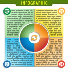 Simply infographic four parts template vector