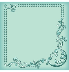 Frame ornament background vector