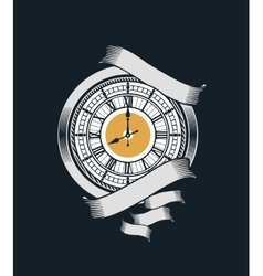 Mechanical antique clock vector