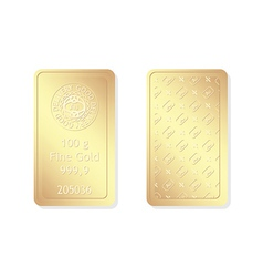 100g minted gold bar vector image