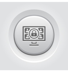 Safety online meeting icon vector