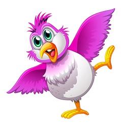 A cute colorful bird vector
