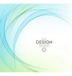 Abstract background blue and green wavy vector