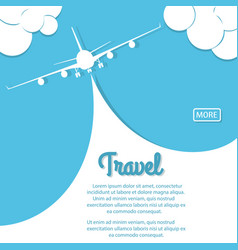 airplane travel biplane with banner vector image vector image