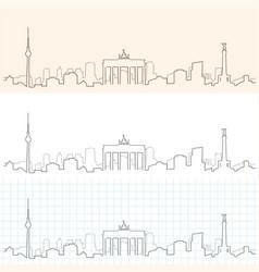 Berlin hand drawn skyline vector