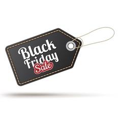 Black Friday sales tag EPS 10 vector image vector image
