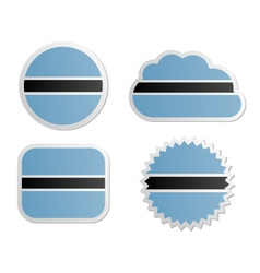 Botswana flag labels vector image vector image