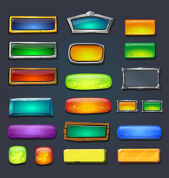 Buttons set form designed game user interface UI vector image