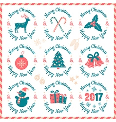 christmas banners 2017 vector image vector image