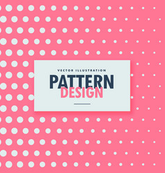 clean dots pattern on pink background vector image vector image