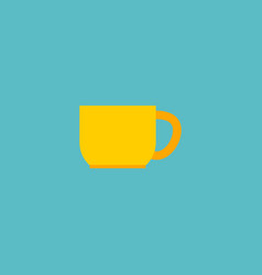 cup icon flat element of cup vector image vector image
