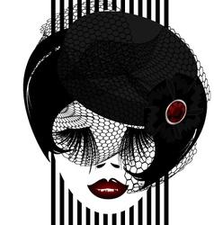 dark dame vector image vector image
