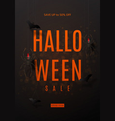 Dark flyer for halloween sale vector