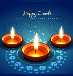 Diwali festival greetung vector