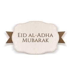 Eid al-adha mubarak paper banner vector
