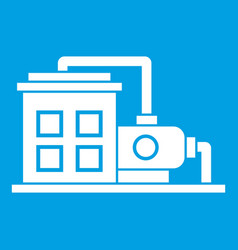 Factory building icon white vector