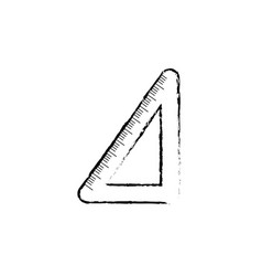 figure school triangle ruler object design vector image vector image