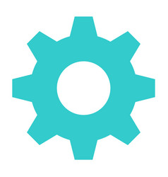 Flat cog icon gear sign cogwheel interface button vector