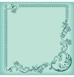 Frame ornament background vector