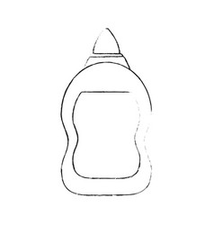 glue bottle isolated vector image