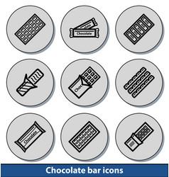 light chocolate bar icons vector image