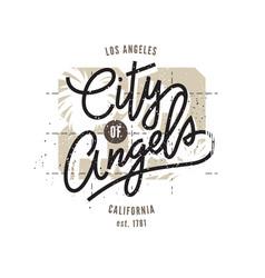 Los angeles typographic print vector