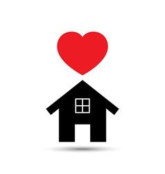 Love Heart House vector image