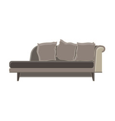modern sofa flat icon isolated furniture luxury vector image vector image