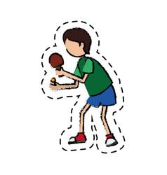 Ping pong player avatar vector