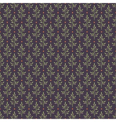 Seamless pattern with abstract plants vector