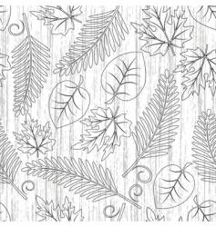 seamless with leaves vector image vector image