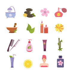 spa sign collection vector image vector image