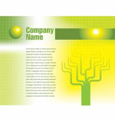 tree page text vector image