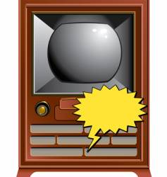 Vintage tv blurb vector