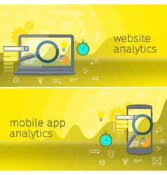 Website analytics search information vector image vector image