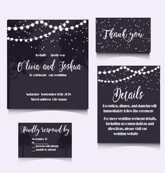 wedding invitation template design vector image