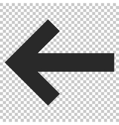 Arrow left icon vector