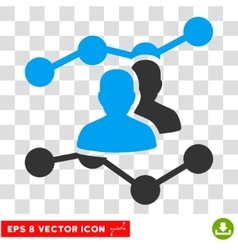 Audience trends eps icon vector