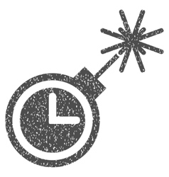 Time Bomb Grainy Texture Icon vector image