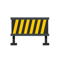 safety barricade icon flat style vector image