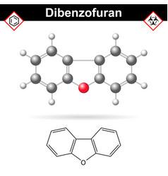 Dibenzofuran aromatic chemical compound vector