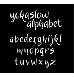 Yokaslow alphabet typography vector