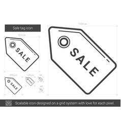 Sale tag line icon vector