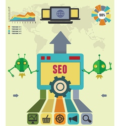 Infographic of seo process vector