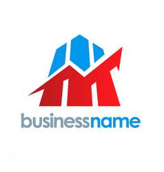 business finance stock logo vector image