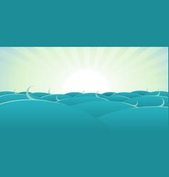 ocean background vector image