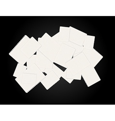 blank papers vector image