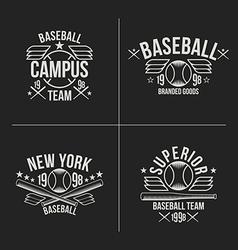Baseball team emblems vector image