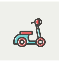 Scooter thin line icon vector