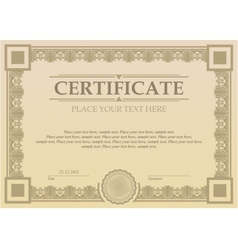 Certificate or coupon template vector